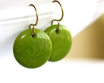 Green Nut Earrings (LIMITED EDITION - Only 2 Available) - 'En Route 66'