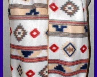 Southwest Fleece Scarf, Muffler, Neck Wrap, Santa Fe
