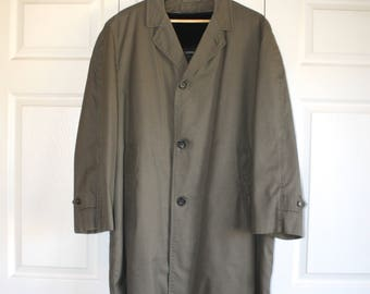 Vintage 70s Trench Coat LONDON FOG / Full length / Navy blue / Size 44R 4mP1d76Jm