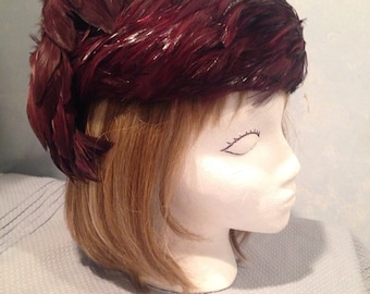 Vintage Aulbern feathered hat