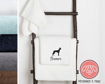 Pharaoh Hound Embroidered Towel