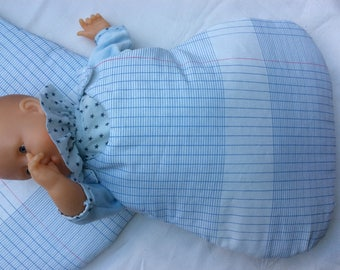 Sleeping bag for doll 30 cm
