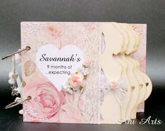 Custom Pregnancy Album Expecting Mom Journal Mom to Be Memory Book Pregnancy Keepsake Album Pregnancy Scrapbook Album