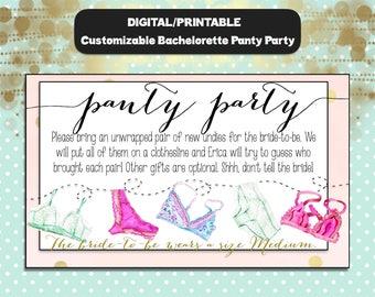 Bachelorette Panty Party Invitation