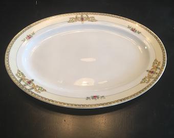 "Meito China- Toledo Pattern 1"" Oval Serving Platter"