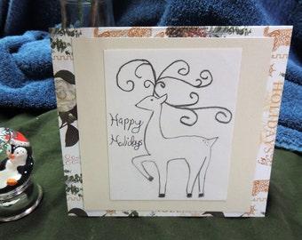 Original Reindeer Holiday Card