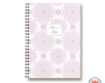 Bullet Journal Notebook - Purple Lace Mandala Azulejos - Custom Notebook Floral Journal Sketchbook Spiral Notebook Schrift Wedding 1N