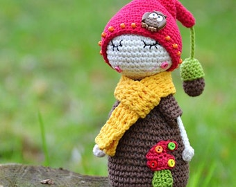 My little Oak hubby - crochet toy pattern, DIY