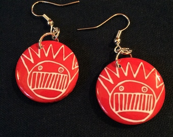 Red Ween Boognish Earrings