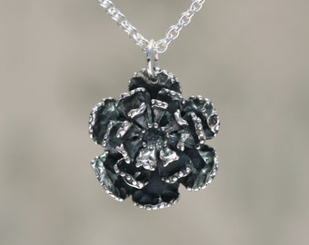 Sterling Silver Flower Charm – Sterling Flower Charm – Flower Pendant Charm – Silver Flower Jewelry – Sterling Charm – Sterling Silver Charm