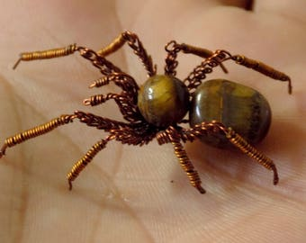 Spider Tiger, spider wire, Tiger's eye, decoration for halloween