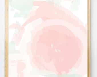Blush and Mint Nursery Art, Pastel Nursery Art, Abstract Nursery Decor, Pastel Colors, Modern Nursery Art, Abstract Art, Pink and Green Art