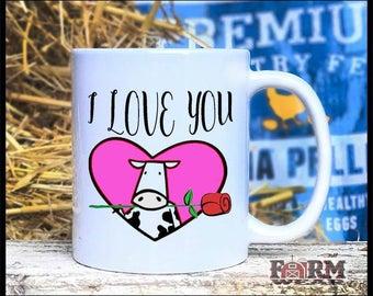 I Love You! Dairy Cow 11oz Coffee Mug