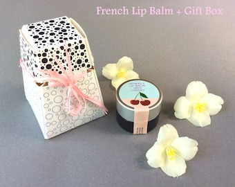 Natural Lip Gloss - Glass Jar - Flavored Lip Balm - 0 25 oz Cherry Lip Balm