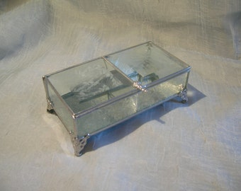 2 section Textured Glass Box