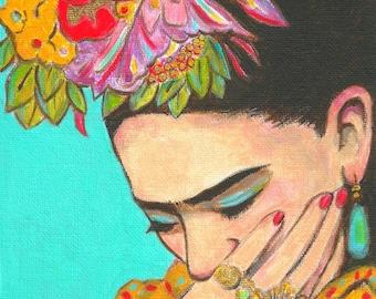 Mexican Art, Print, Free Shipping, canvas, Mexican Folk Art, Diego Rivera, Poster, Painting,Decor Hispanic Wall art