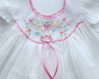 Cotton Gauze Bows and Flowers Baby Dress and Bloomer Set