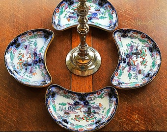 A super 19th century, set of chinoiserie ,serving dishes