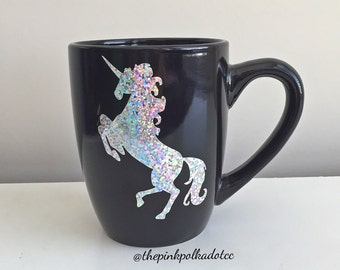 Sparkle Unicorn Mug; Unicorn Life Coffee Mug; Unicorn Mug; Girly Mug