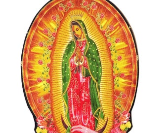 Guadalupe - Patches - T-Shirts - mexikanischen Volkskunst - Eisen auf Patch - religiösen - Tasche - Large - Kissen - Senorita - Tattoo - Jungfrau Maria