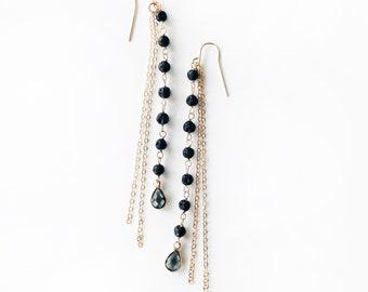 WATERFALL • Lava • Essential Oil Diffuser Earrings • Dainty • 14K Gold Filled • Aromatherapy Earrings • SLATE