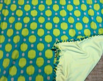 Polka Dot Handmade Fleece Blanket