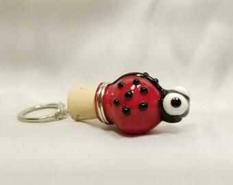 Ladybug Mini Bottle Keychain
