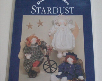 """Dream Spinners #125 Stardust pattern 22"""" angel dolls  with clothes, vintage"""