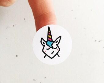 Magical Unicorn stickers/envelope seals (24)