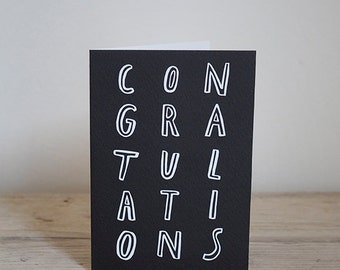 Illustrated Congratulations card