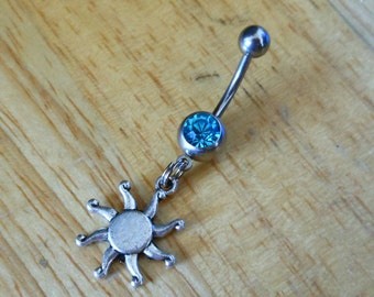 Sun Belly button ring - Body Jewelry - Belly Button Ring