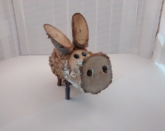 Wooden Folk Art Pig #2