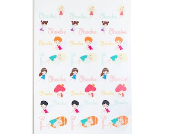 Personalised Fairy Stickers ~ Fairy Name Labels