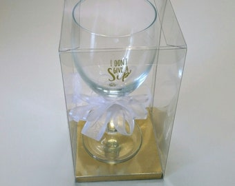 Portion Control Wine Glass