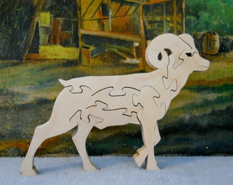 Wooden Bighorn Sheep Puzzle