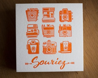 Card letterpress smile
