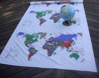 One piece of The Map of the World Fabric is cover the world, and cities. A continent is one of several very large landmasses on Earth