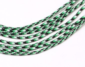 Paracord 2mmx5m green / black Camouflage