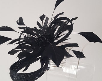Black Headpiece Fascinator