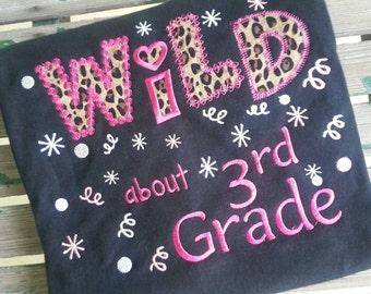 Wild about 3rd Grade Shirt Wild about 3rd Grade School Shirt