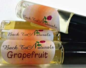 Grapefruit Fragrance Oil - Pink Grapefruit Perfume Roll on bottle - Citrus Fragrance for her