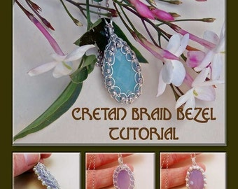 Cretan Braid Cabochon Bezel - Instant Download Wire Jewelry Tutorial Instruction PDF