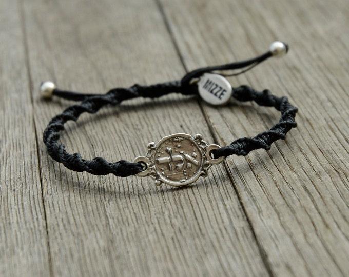ALD 72 Names of God Black Bracelet for Protection - Adjustable Men & Women