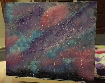 The Galaxy Defender canvas board in acrylic