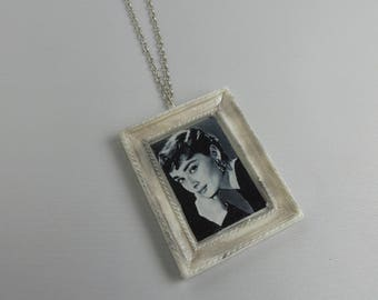 """Necklace with mini paintings """"art on the neck"""""""