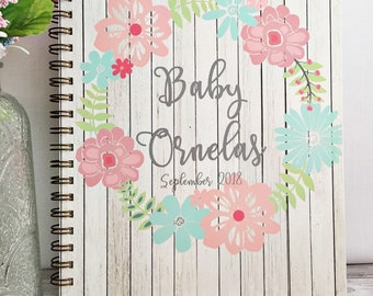 Personalized Pregnancy journal, expecting mom gift,  pregnancy keepsake, weekly pregnancy journal, first Mothers day gift for her