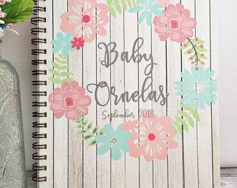 Journal de grossesse personnalisé, attend le cadeau de maman, souvenir de la grossesse, hebdomadaire journal de grossesse, première fête des mères cadeau du jour pour elle
