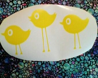 Bird Wall Decals/Bird Decal For Nusery /Three Birds Wall Decal/ Birds Wall Stickers /Kids Room Bird Wall Decals/ Cute Bird Decal/ Love Birds