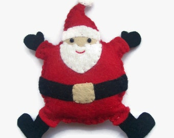 Christmas Decorations, Santa, Felt Christmas Tree Ornaments, Father Christmas