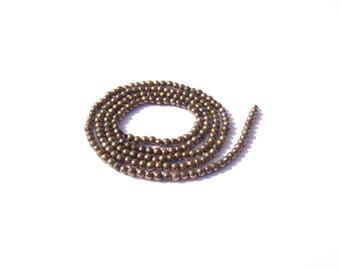 10 micro irregular Pyrite beads natural gold/Black 2 mm in diameter